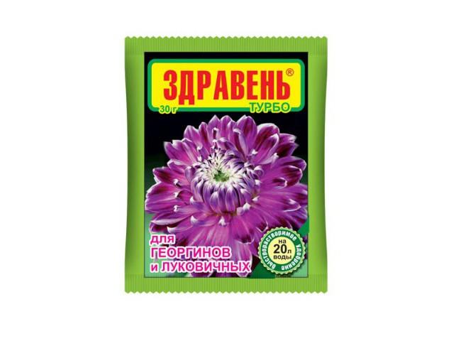 Здравень турбо для георгин и луковичных пакет 30 гр