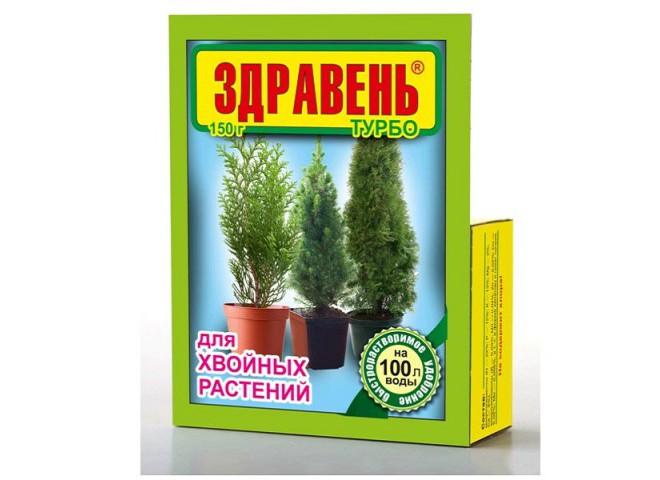 Здравень турбо для хвойных растений пакет 150 гр