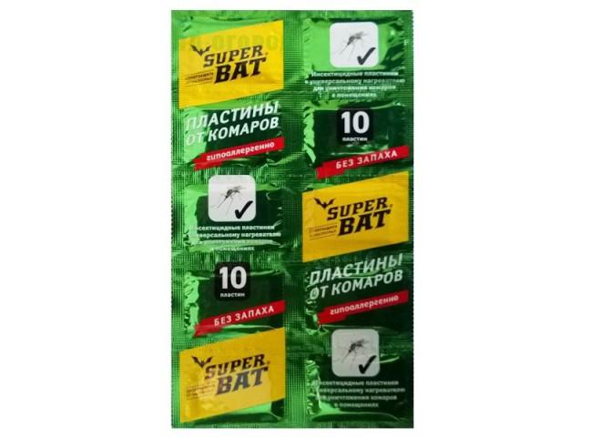 Super Bat Пластины от комаров зеленые