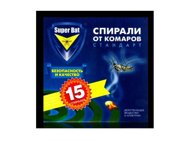 Super Bat Спирали синие от комаров