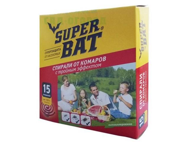 Super Bat Спирали красные тройного действия