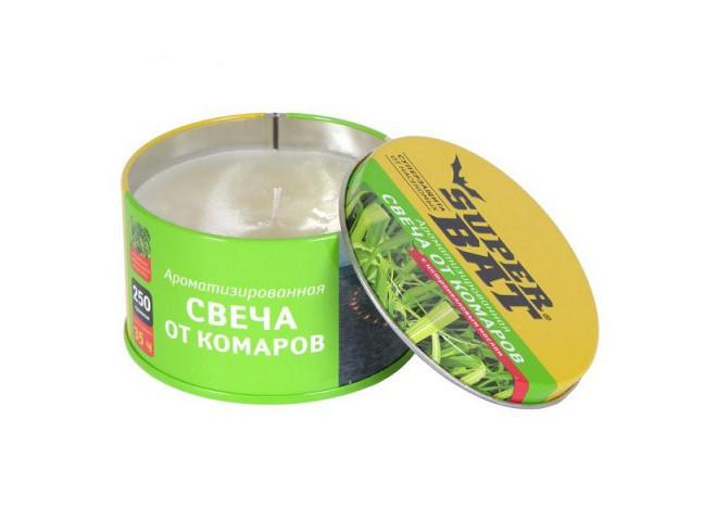 Super bat Ароматизированная свеча от комаров