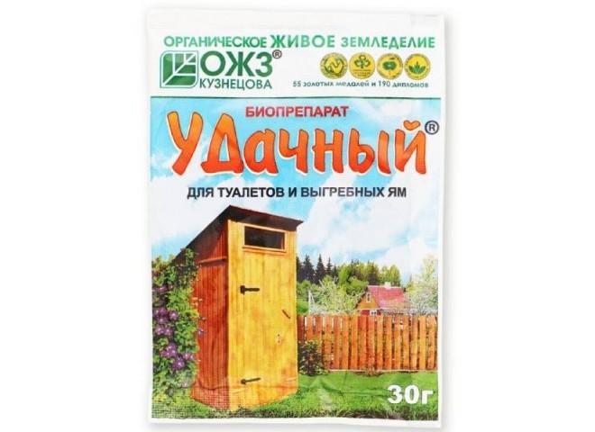 Удачный - биопрепарат для туалетов и выгребных ям 30 гр