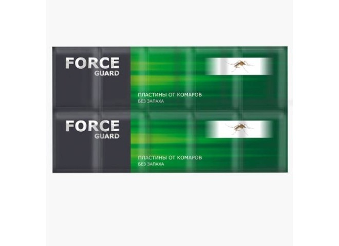Force guard пластины от комаров без запаха зеленые