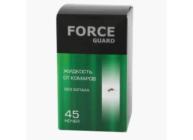 Force guard жидкость от комаров без запаха зеленая 45 ночей