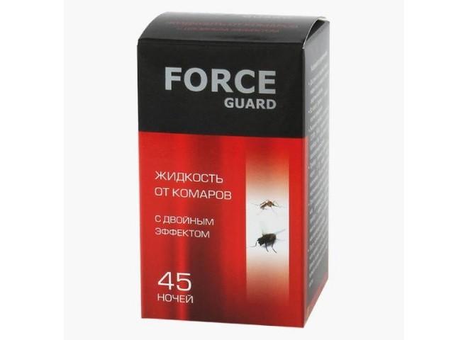 Force guard жидкость от комаров С двойным эффектом красная 45 ночей