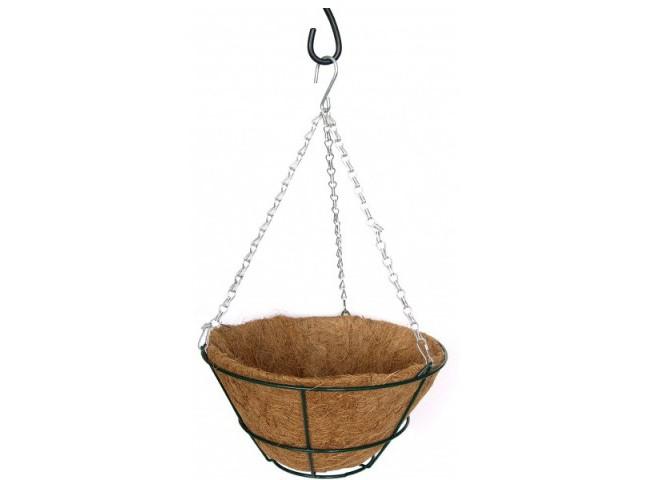 Кашпо коковита подвесное с плоским дном, d 30 см