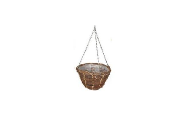 Кашпо плетеное корзина d 30 см