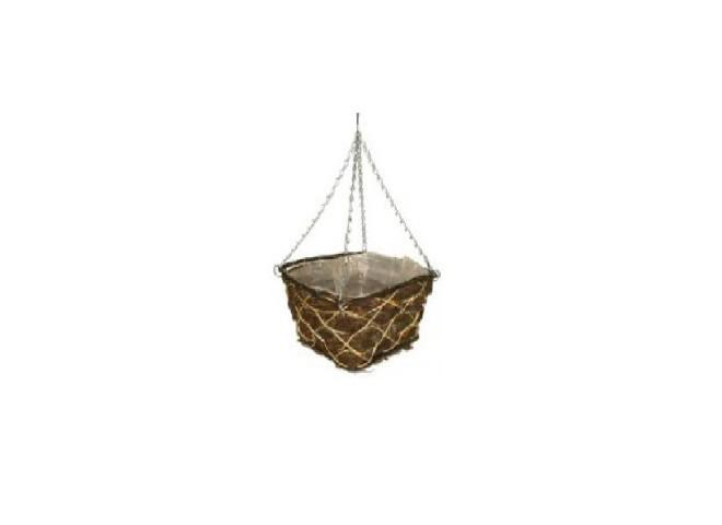 Кашпо плетеное корзина прямоугольная 30 см