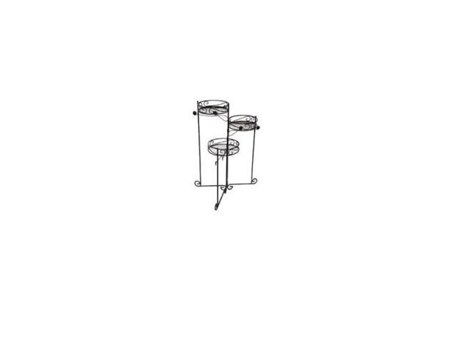 Подставка для кашпо декоративная тройная 3х20 см