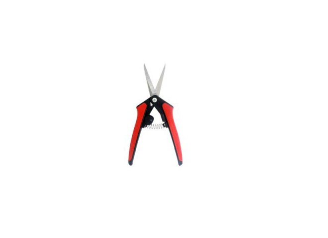 Ножницы-секатор  с упорной пружиной и фиксатором
