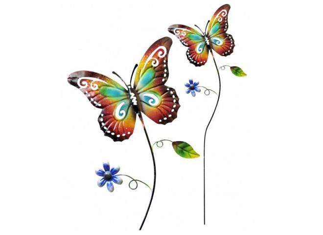 """Поддержка для растений декоративная цветная """"бабочка"""""""