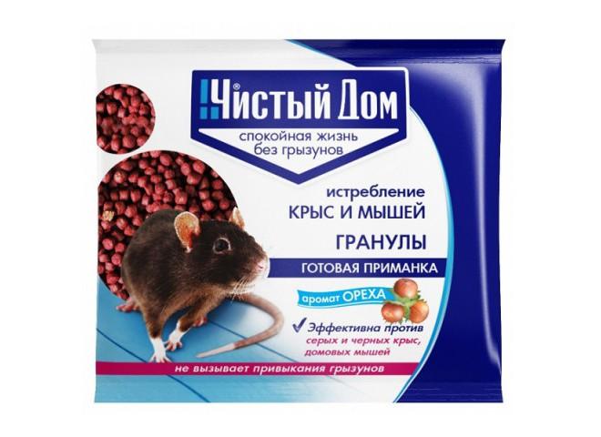 Чистый дом гранулы от крыс и мышей с запахом ореха 100 гр