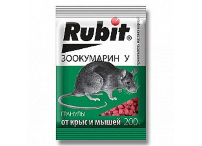 Рубит ЗООКУМАРИН+ гранулы 200 г У сырный