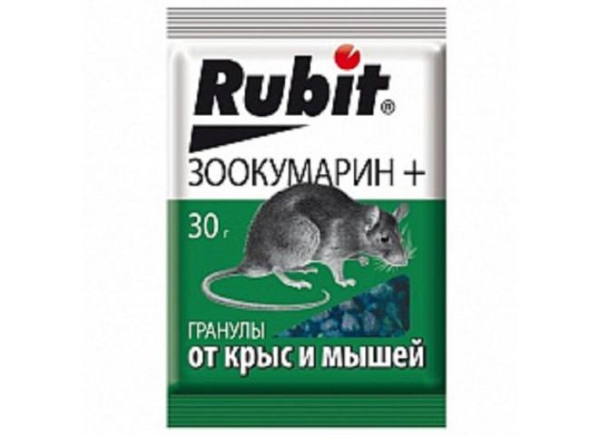 Рубит ЗООКУМАРИН+ гранулы 30 г