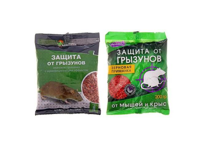 ДОМОВОЙ Зерно от грызунов в пакете 200 г