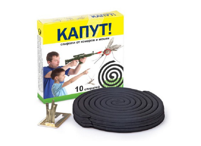 КАПУТ Спираль от комаров Стандарт 10 шт