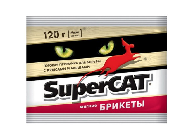 SUPERCAT брикет мягкий 120 г