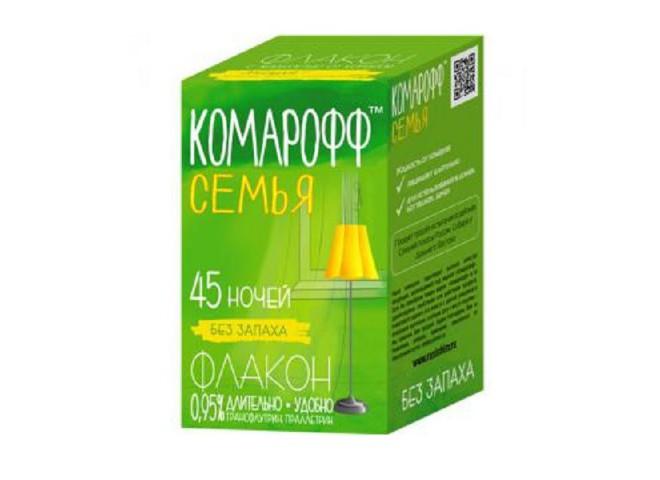КОМАРОФФ СЕМЬЯ жидкость от комаров 30 мл без запаха