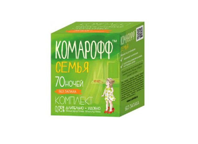 КОМАРОФФ СЕМЬЯ комплект 45 мл без запаха