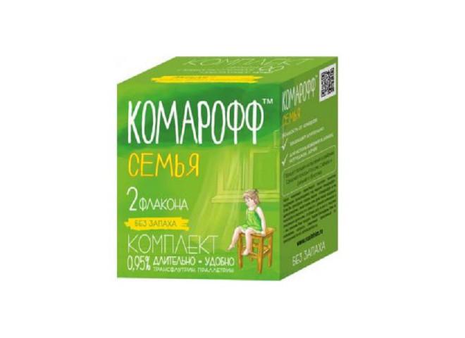 КОМАРОФФ СЕМЬЯ комплект 2 флакона по 30 мл без запаха