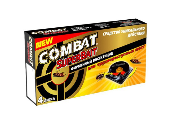КОМБАТ Super Bait ловушки для тараканов 4 шт