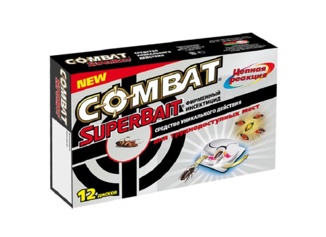 КОМБАТ Super Bait ловушки для тараканов 12 шт