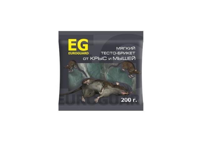 EUROGUARD тесто-брикеты от крыс и мышей 200 г