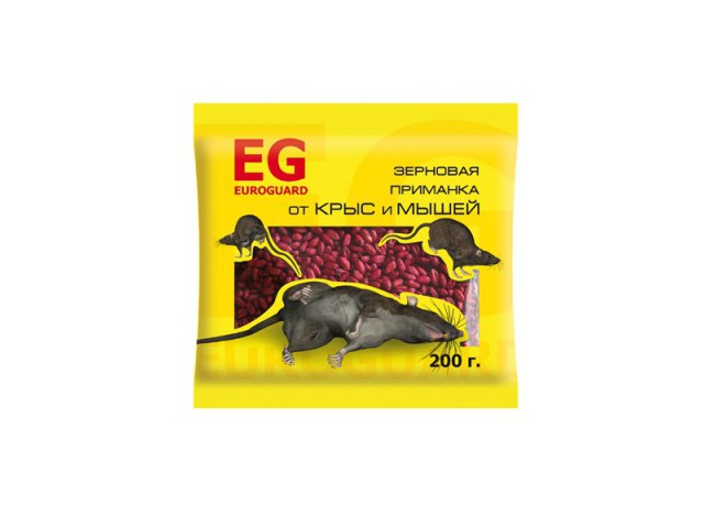 EUROGUARD зерно от крыс и мышей 200 г