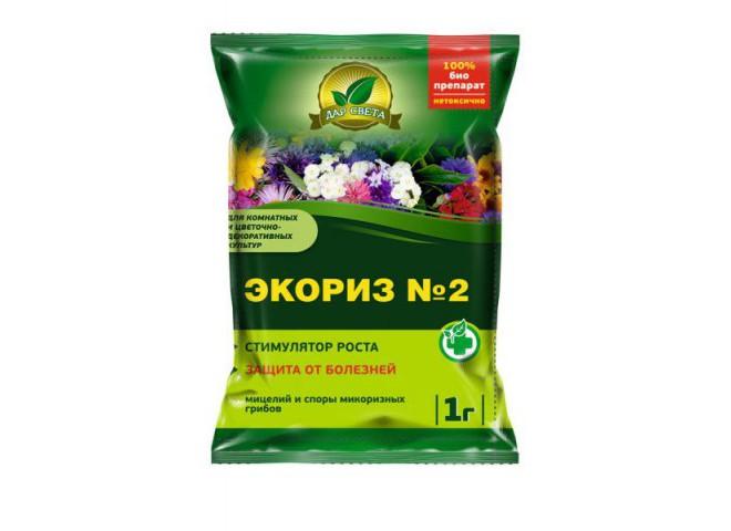 Экориз № 2  для цветочных культур мицелий микоризных грибов пакет 1 гр