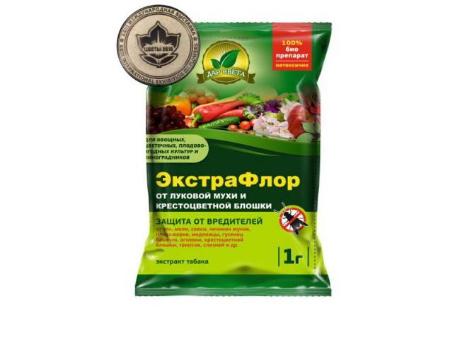 ЭкстраФлор от луковой мухи и крестоцветной блошки пакет 1 гр