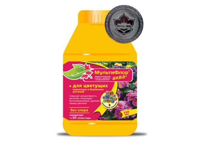 Мультифлор Аква  для цветущих растений 250 мл