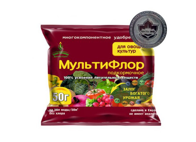 МультиФлор подкормочное для овощных культур 50 гр