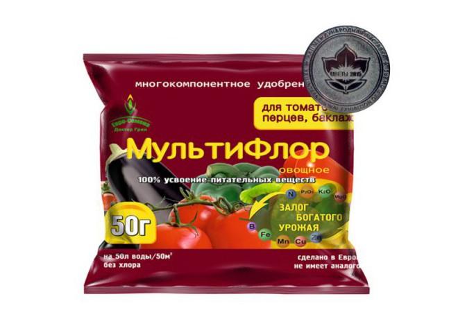МультиФлор овощное для томатов, перцев, баклажанов 50 гр