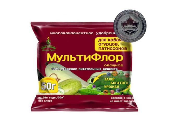 МультиФлор овощное для огурцов, кабачков, патиссонов 50 гр