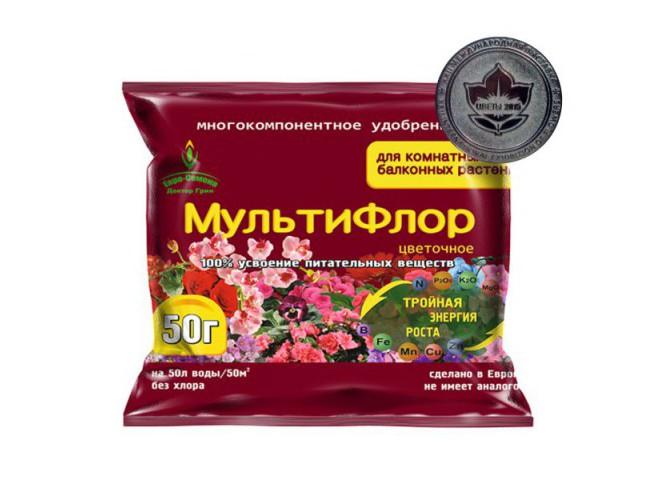 МультиФлор цветочное для комнатных и балконных 50 гр
