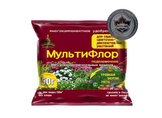 МультиФлор подкормочное для садовых цветочно-декоративных растений 50 гр