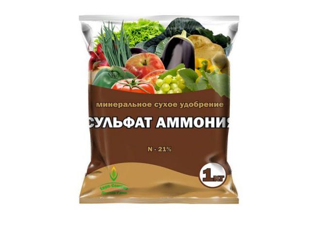 Сульфат аммония - N 21% пакет 1 кг